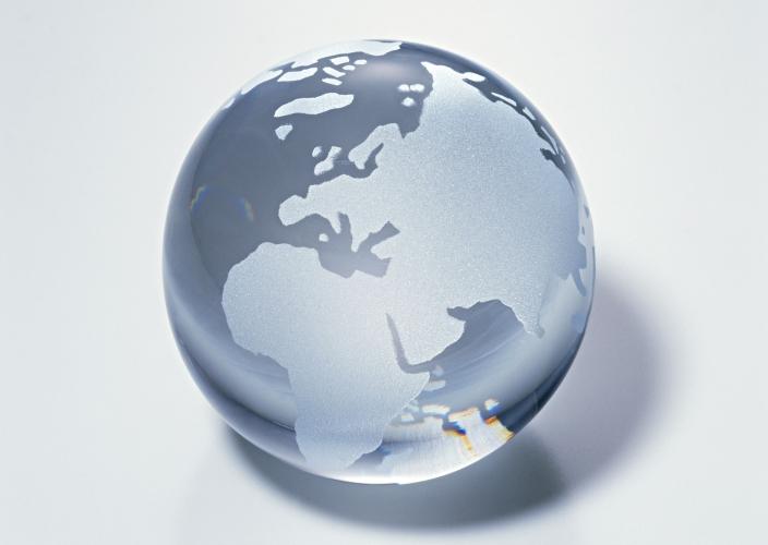 Afrique - globe transparent