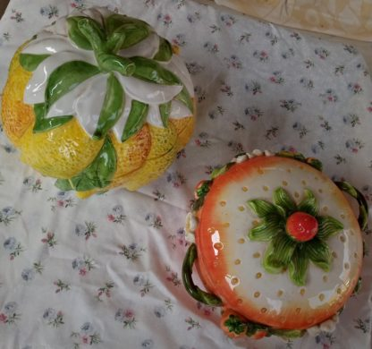 soupière décorative - fraise ou citron